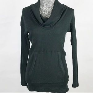 Bobi Cowl Neck Thermal Long Sleeve Pullover Small